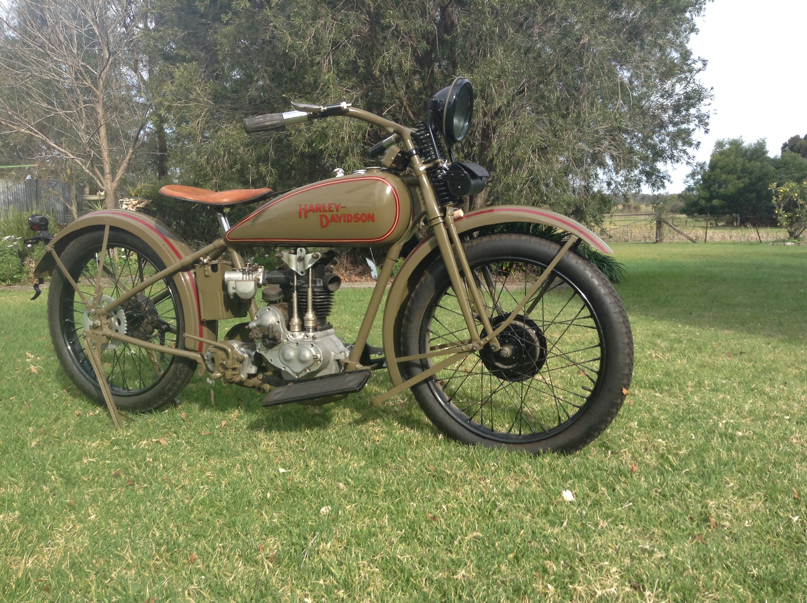 "1928 Harley Davidson OHV 350cc ""Peashooter"""