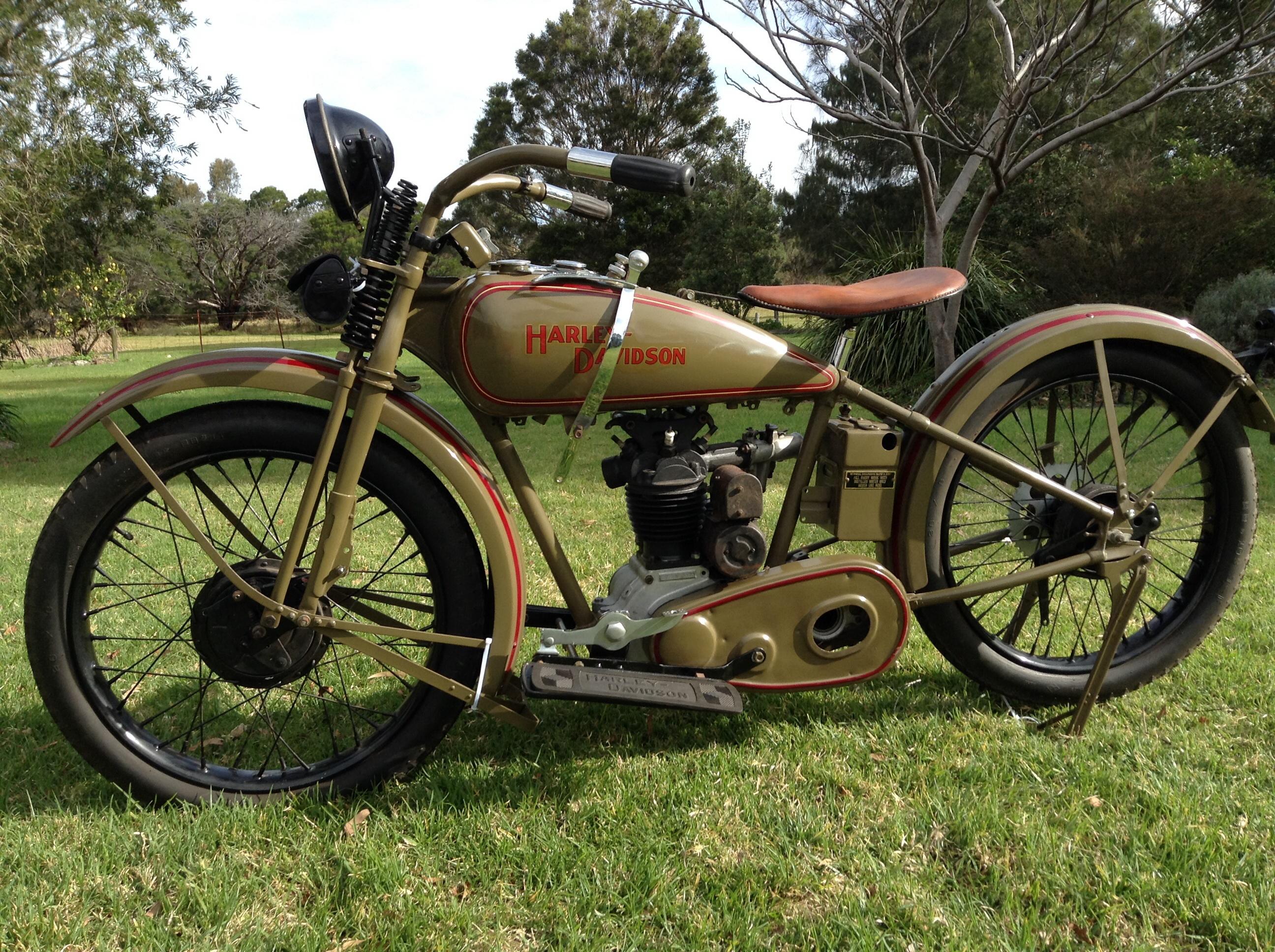 "1928 Harley Davidson Ba Single: 1928 Harley Davidson OHV 350cc ""Peashooter"""