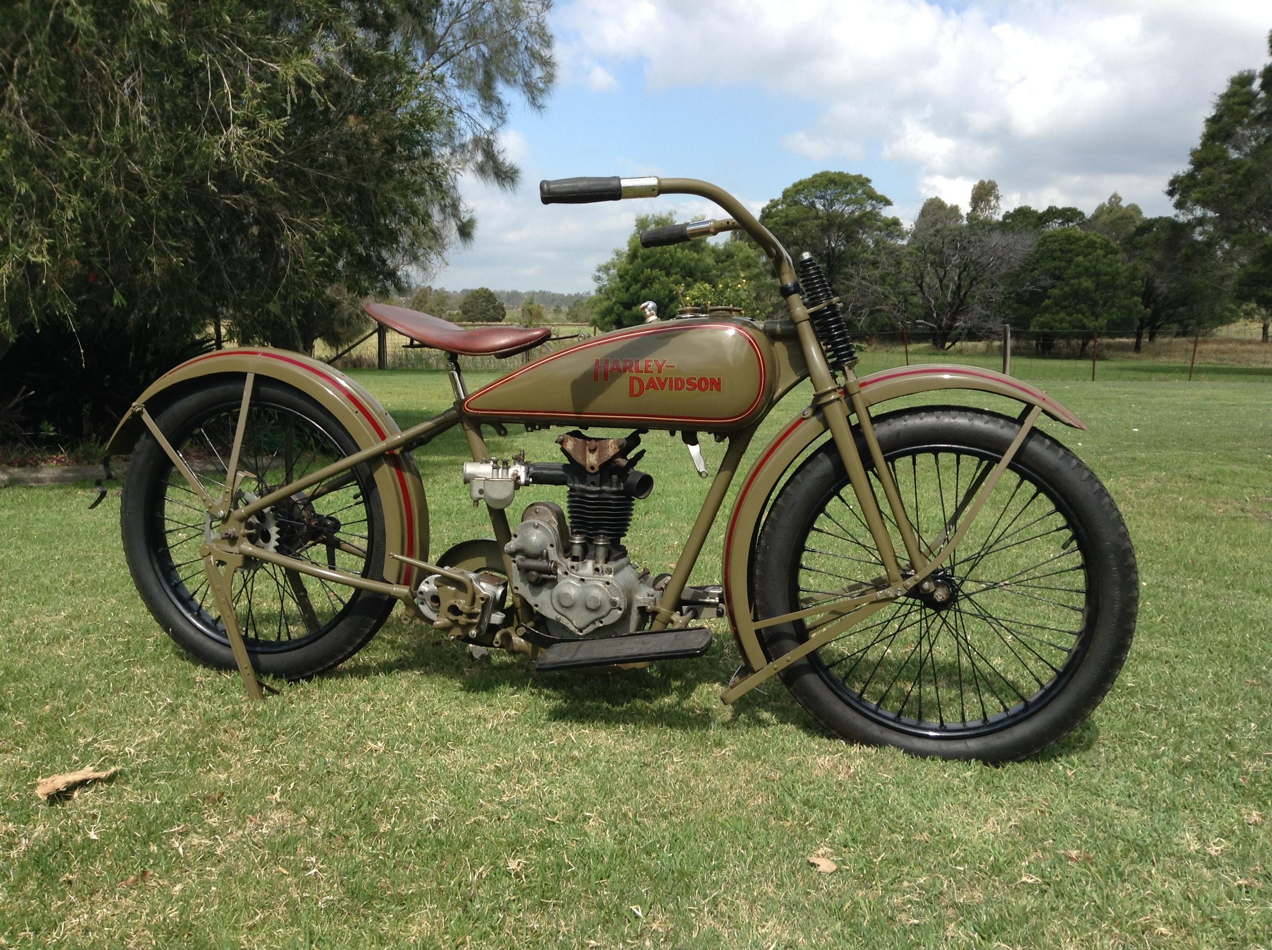 1926 Harley Davidson Ohv Peashooter Sold: 1926 AA Harley Davidson OHV 001